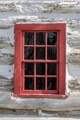 Photograph - Landow Cabin Window by Guy Whiteley