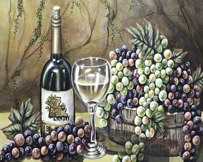 Painting - Landry Vineyards by Kimberly Blaylock