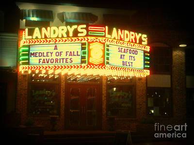 Landry's Seafood In Lomoish Art Print