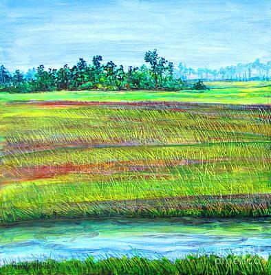 Tidal Creek Painting - Land's End   1 Of 2 by Pamela Iris Harden