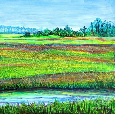 Tidal Creek Painting - Land's End 2 Of 2 by Pamela Iris Harden