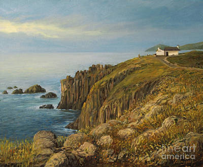 Land's End In Cornwall Art Print by Kiril Stanchev