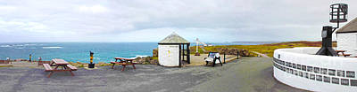 Sennen Cove Photograph - Lands End Panoramic by Linsey Williams