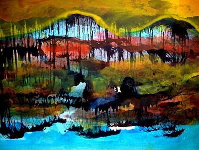 Landscape 121003-2 Art Print by Aquira Kusume