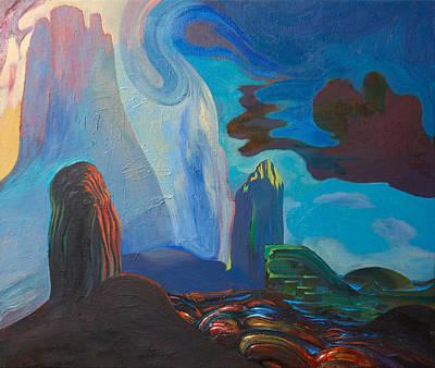 Charro Painting - Landscape 32 by Fernando Alvarez