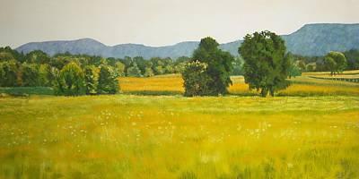 landscape art print oil painting for sale Fields Art Print by Diane Jorstad
