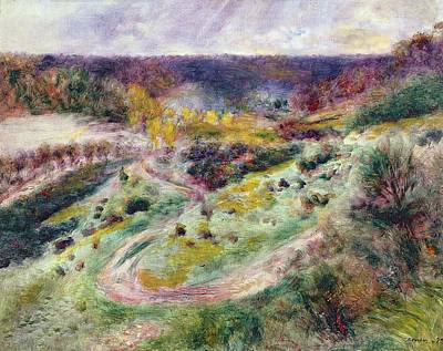 Pathway Painting - Landscape At Wargemont by Pierre Auguste Renoir