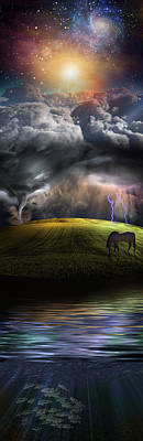 Animals Digital Art - Landscape by Bruce Rolff