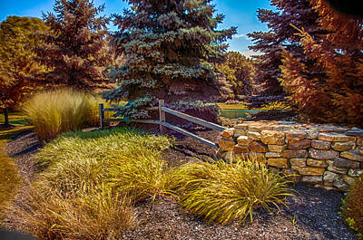 Photograph - Landscape By The Pond by Gene Sherrill
