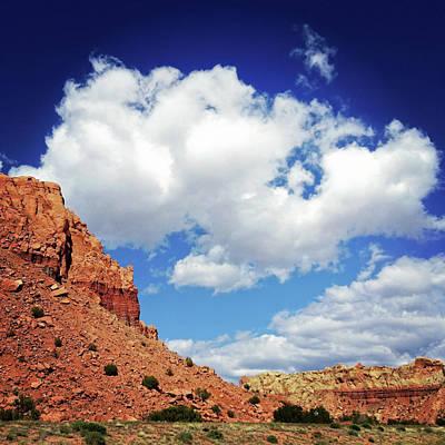 Landscape Desert Badlands Sky Art Print