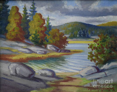 Painting - Landscape From Finland by Kolehmainen