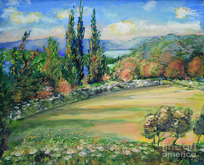 Painting - Landscape From Kavran by Raija Merila