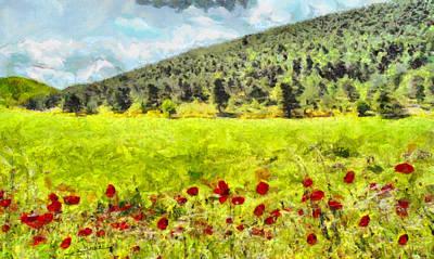 Adventure Painting - Landscape by George Rossidis