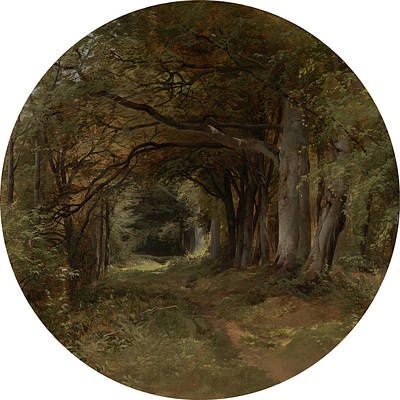 Middleton Painting - Landscape Gunton Park - A Beech Glade, John Middleton by Litz Collection
