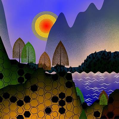 Digital Art - Landscape by GuoJun Pan