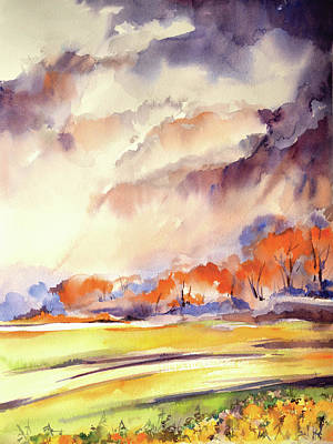 Farmscape Painting - Landscape IIi by Sophia Rodionov