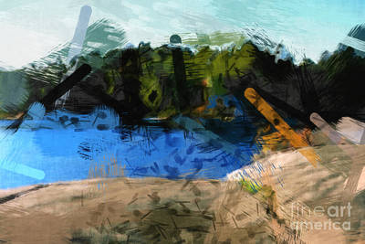 Painting - Landscape Impact by Lutz Baar