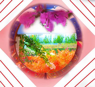 Digital Art - Landscape In Circle by AugustaStylianou