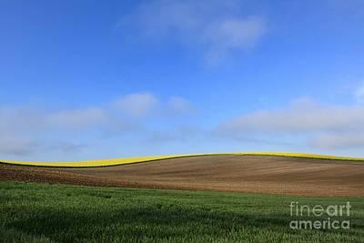 Ploughed Photograph - Landscape In France by Bernard Jaubert