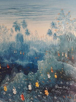 Haitian Painting - Landscape In Haiti by Haitian artist