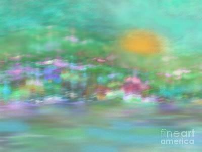Landscape In Pastel Colors Art Print