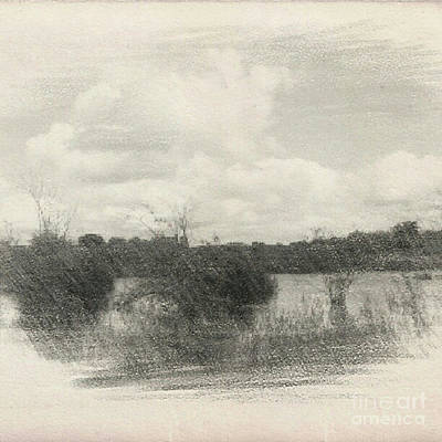 Drawing - Landscape In Patches by Isabella F Abbie Shores FRSA