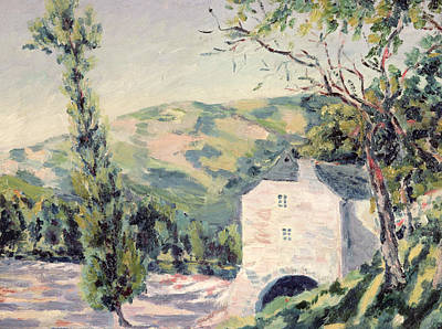 Landscape In Provence Art Print by French School