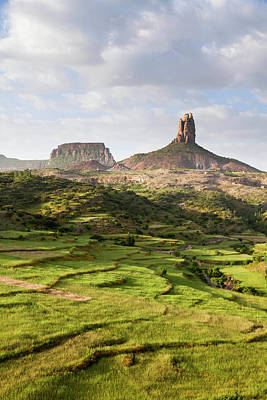 Sorghum Photograph - Landscape In Tigray, Northern Ethiopia by Martin Zwick