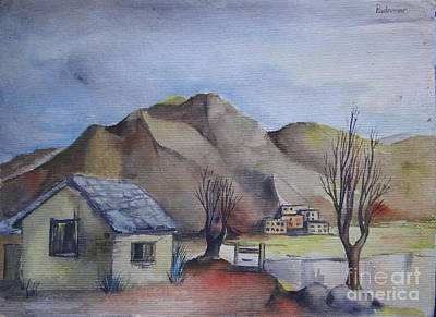 Painting - Landscape In Watercolour 3 by Padamvir Singh