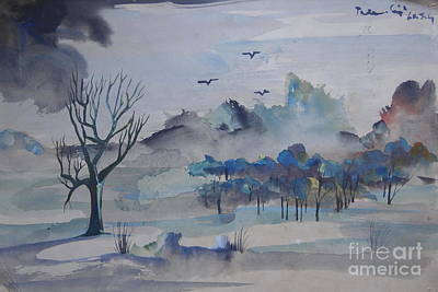 Painting - Landscape In Watercolours 4 by Padamvir Singh