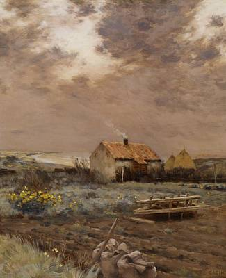 Homestead Painting - Landscape by Jean Charles Cazin