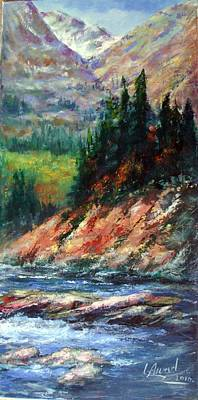 Art Print featuring the painting Landscape by Laila Awad Jamaleldin