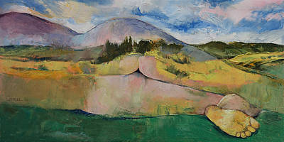 Delicate Painting - Landscape by Michael Creese
