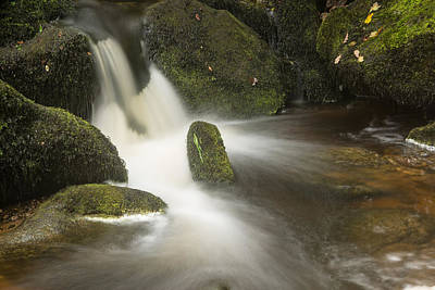 Landscape Of Becky Falls Waterfall In Dartmoor National Park Eng Art Print by Matthew Gibson