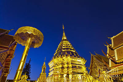 Lord Buddha Photograph - Landscape Of Big Pagoda by Anek Suwannaphoom