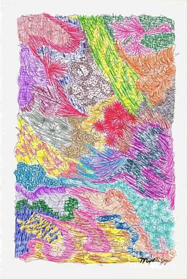 Greens Painting - Landscape Of Color by Myrtle Joy