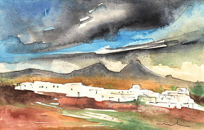 Painting - Landscape Of Lanzarote 01 by Miki De Goodaboom