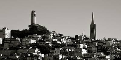 Landscape Of San Francisco Art Print by Alex King