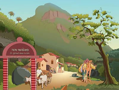 Landscape Original by Prakash Leuva