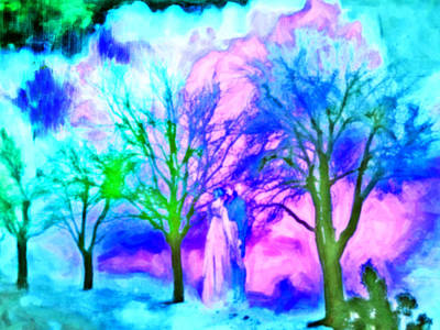 Digital Art - Landscape Romantic Impressionism by Femina Photo Art By Maggie