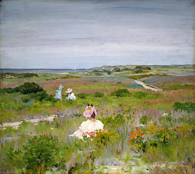 Painting - Landscape Shinnecock Long Island by William Merritt Chase