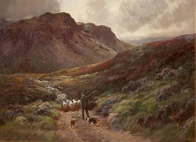 Herding Dog Painting - Landscape by Stephen Enoch Hogley