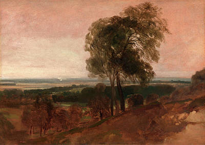 Visual Drawing - Landscape Study At Sunset, Peter Dewint, 1784-1849 by Litz Collection