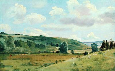Landscape Summer Landscape Near Dedham, Lionel Constable Art Print