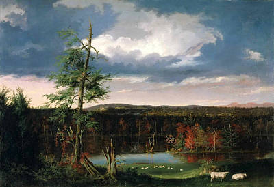 Landscape The Seat Of Mr. Featherstonhaugh In The Distance Art Print