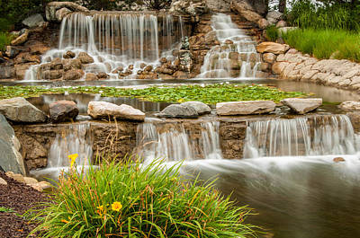 Photograph - Landscape Waterfall by Gene Sherrill