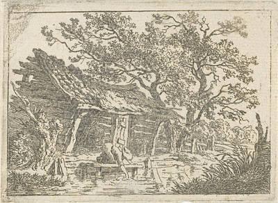 Old Barn Drawing - Landscape With A Barn, François Joseph Pfeiffer II by Artokoloro