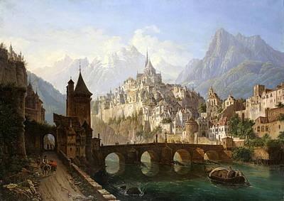 Blog Painting - Landscape With A Castle by Andreas Roller