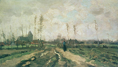 Landscape With A Church And Houses Art Print by Vincent van Gogh