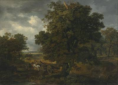 Landscape Painting - Landscape With A Horse-drawn Cart by Celestial Images